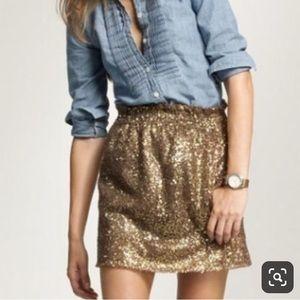 J.Crew Golf Sparkle Skirt Size 0